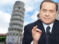 סילביו ברלוסקוני, ראש ממשלת איטליה מיגדל פיזה  / צלם רויטרס